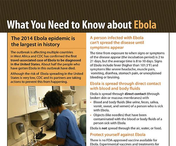 CDC – O Que Você Precisa Saber sobre Ebola Poster