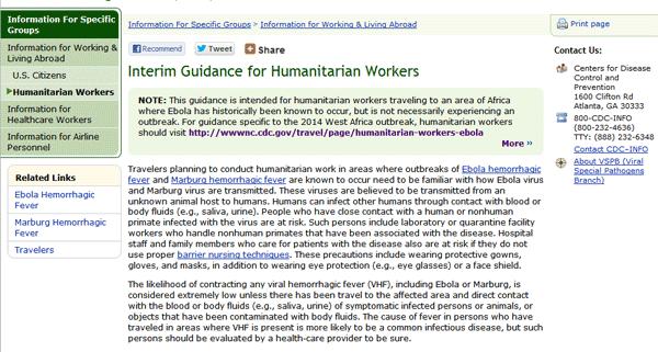 Conseils provisoires pour les travailleurs humanitaires